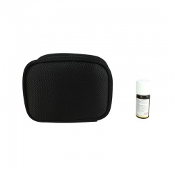 Custodia per oli essenziali beige e nera (formato piccolo)