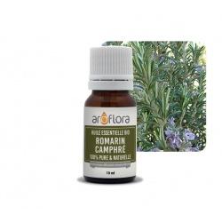 Lote de 6 unidades de Aceite esencial orgánico de romero alcanfor 100 % puro y natural, 10 ml