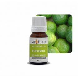 Lote de 6 unidades de Aceite esencial orgánico de bergamota 100 % puro y natural, 10 ml