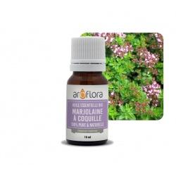 lot de 6 Huiles essentielles BIO de Marjolaine à coquilles 100% pure et naturelle, 10ml