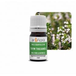 Lotto di 6 unita di Olio essenziale BIO di Timo tujanolo 100% puro e naturale, 5 ml