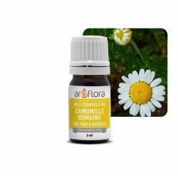 Lote de 6 unidades de Aceite esencial orgánico de manzanilla romana 100 % puro y natural, 5 ml