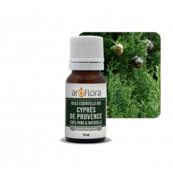 batch of 6 100% pure and natural, organic cypress of Provence essential oil, 10ml