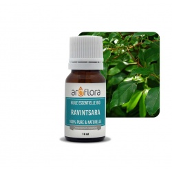 Lote de 6 unidades de Aceite esencial orgánico de ravintsara 100 % puro y natural, 10 ml