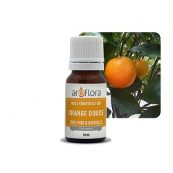 batch of 6 Organic essential oil of Sweet Orange 100% pure and natural, 10ml