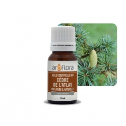 batch of 6 Organic essential oil of Atlas Cedar 100% pure and natural, 10ml