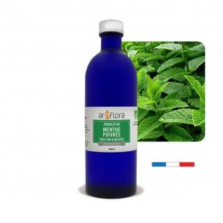 Lote de 6 unidades Hidrolato de menta orgánico 100 % puro y natural, 200ml