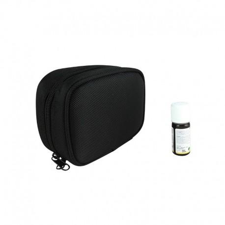 Estuche para aceites esenciales violeta y negro (formato pequeño)