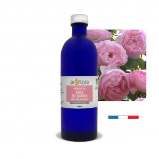 Hidrolato de rosa damasco orgánico 100 % puro y natural, 200ml