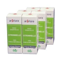 lot de 6 huiles essentielles bio 6x10 ml Citronnelle