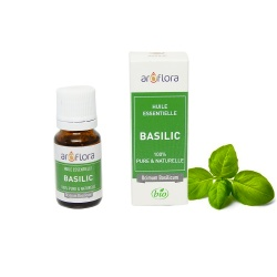 Organic essential oil of Basil 100% pure and natural, 10ml