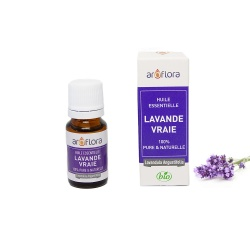 Organic essential oil of True Lavender 100% pure and natural, 10ml
