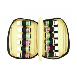 Beige and black case for essential oils (Large size)