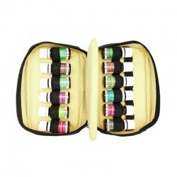 Estuche para aceites esenciales beige y negro (formato grande)