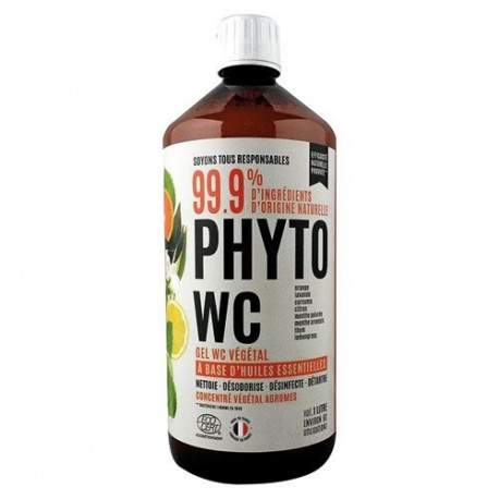 Gel nettoyant WC, végétal et naturel, AGRUMES, Phytopur 1L