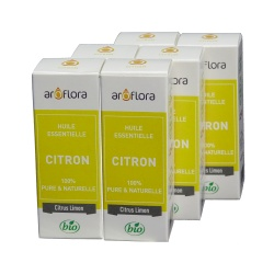 lot de 6 huiles essentielles bio 6x10 ml Citron