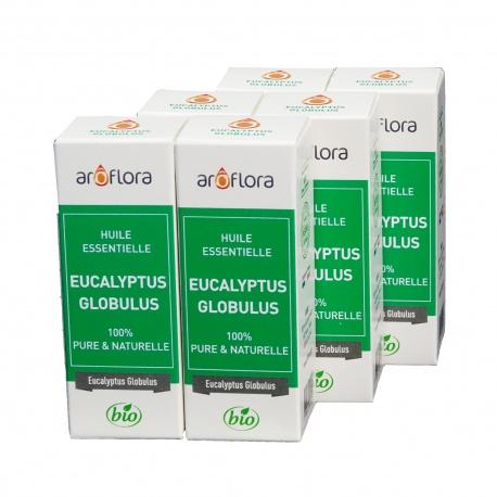 lot de 6 huiles essentielles bio 6x10 ml Eucalyptus Globulus