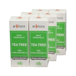 lot de 6 huiles essentielles bio 6x10 ml Tea Tree