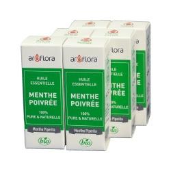 lot de 6 huiles essentielles bio 6x10 ml Menthe Poivrée