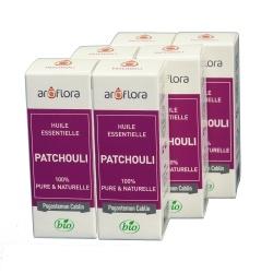 lot de 6 huiles essentielles bio 6x10 ml Patchouli