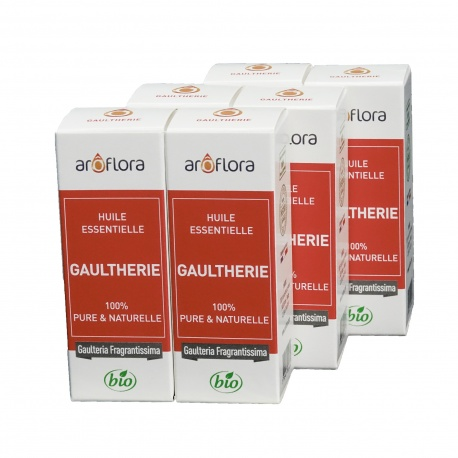 lot de 6 huiles essentielles bio 6x10 ml Gaulthérie