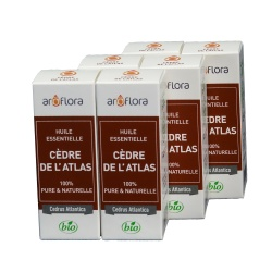 lot de 6 huiles essentielles bio 6x10 ml Cèdre de l'Atlas