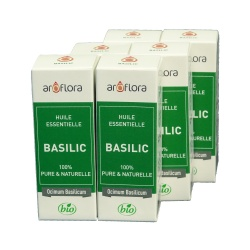 lot de 6 huiles essentielles bio 6x10 ml Basilic