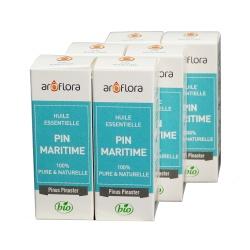 lot de 6 huiles essentielles bio 6x10 ml Pin Maritime