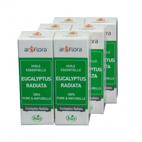 lot de 6 huiles essentielles bio 6x10 ml Eucalyptus Radiata
