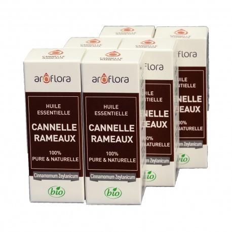 lot de 6 huiles essentielles bio 6x10 ml Cannelle Rameau