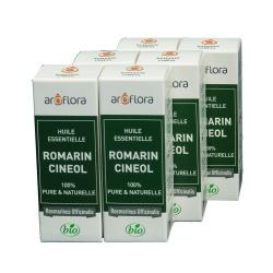 lot de 6 huiles essentielles bio 6x10 ml Romarin Cinéole