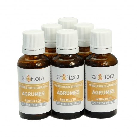 lot de 6 synergies 6x30 ml Agrumes